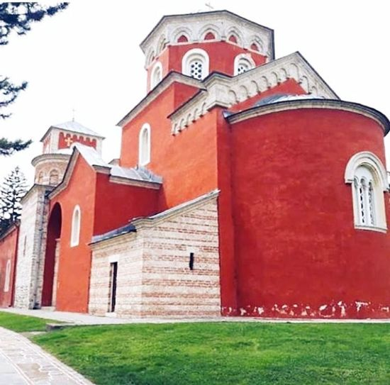 Monestry Žiča. Kraljevo, Srbija Monestry #zicamanastir #serbia #photography #photography #photo #photos #pic #pics #TagsForLikes #picture #pictures #snapshot #art #beautiful #instagood #picoftheday #photooftheday #color #all_shots #exposure #composition #focus #capture #moment Photographer City Red Place Of Worship Clock Face Religion History Architecture Building Exterior Grass Sky