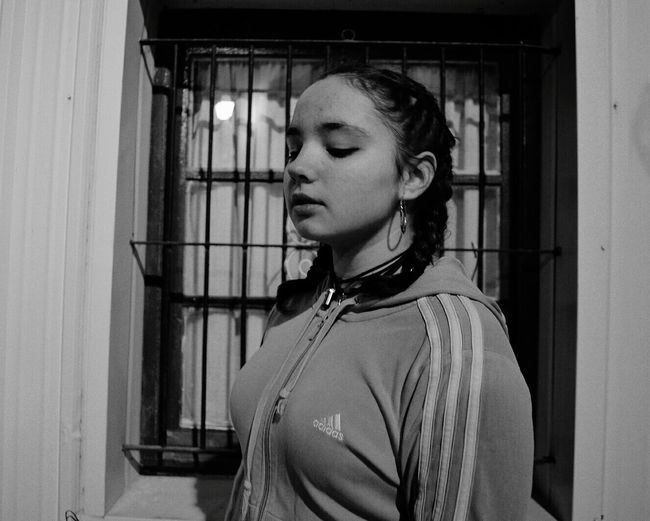 One Person Blackandwhite Only Women Adidas Urban Exploration Night First Eyeem Photo