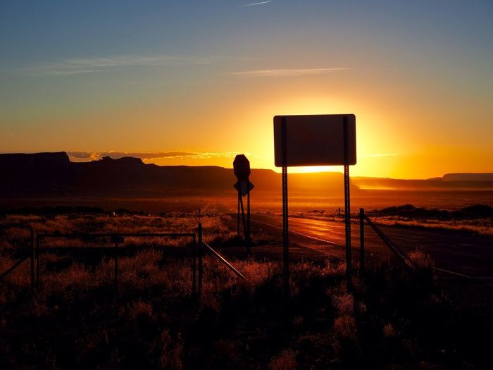 Monument Valley Sunset Nature Beauty In Nature Orange Color Silhouette Scenics Tranquil Scene
