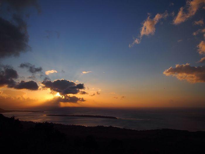 Sky Sunset Beauty In Nature Scenics - Nature Sea Cloud - Sky Tranquil Scene Horizon Over Water Orange Color Horizon Water Idyllic