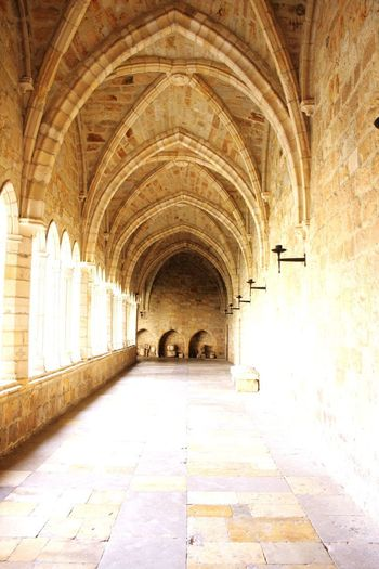 Catedral Claustro Catedral Catedral De Santander Arch Architecture Built Structure The Way Forward Direction Building Indoors  No People Arcade Corridor History Day Arched Flooring Illuminated