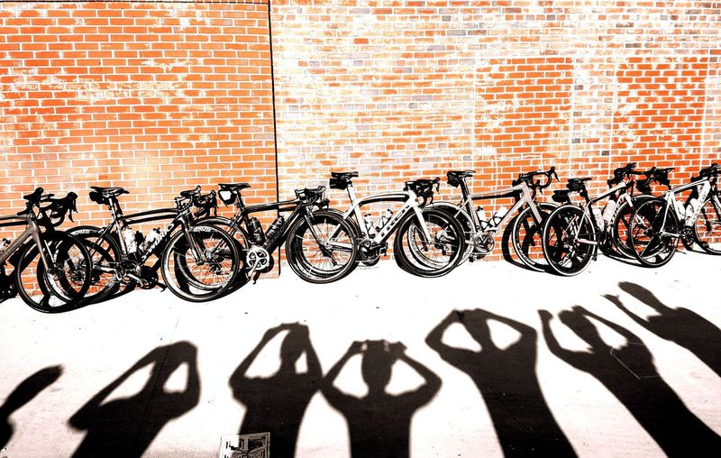 Shadow Outdoors People Cyliing Club Day Cycling Bikeride Bike Bikes Bike Life Group Of People Group Ride Bike Riding Selfies Group Selfie Visual Creativity A New Perspective On Life