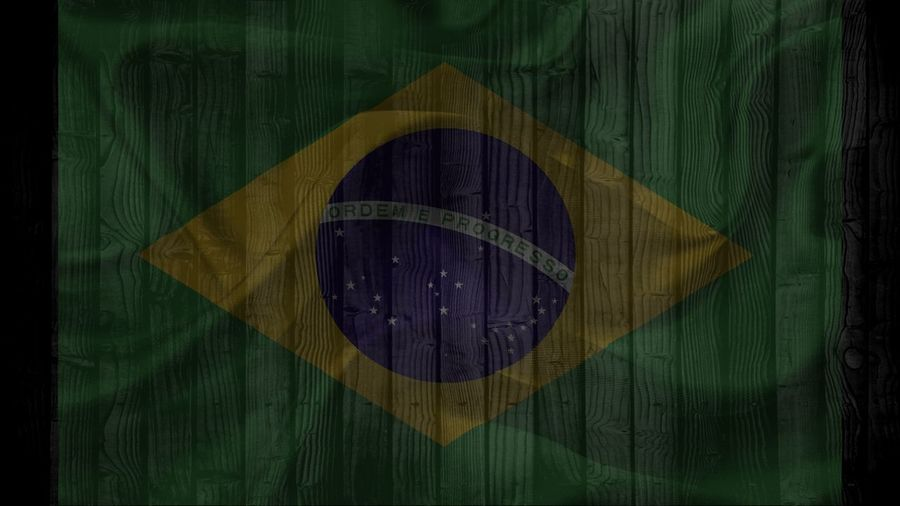 brazil flag on wood texture background Advertising Brazil Flag Independence Close-up Constitution Day Flag Green Color No People Outdoors Patriotism Rippled Ruffled Symbol Symbolic  Yellow