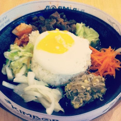 Bibimbob for Php99 hehehe super sulit!! Mrkinbob Healthy Crave Satisfied  👍😱😂😊😌🇰🇷