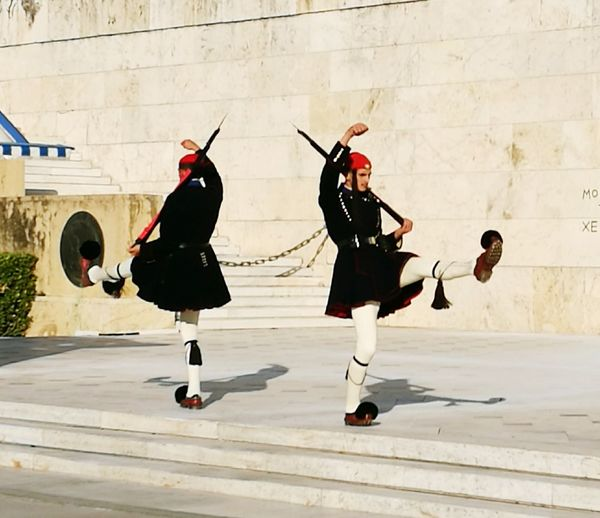 This Is Masculinity Marching Outdoors Only Men Adults Only Evzones Greek Guard Full Length Day Military Uniform
