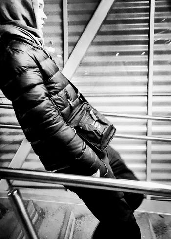 I just lean back and go. Streetphoto_bw Streetphotography One Person Real People Day Men Indoors  One Man Only Low Section Human Body Part Adult People Only Men