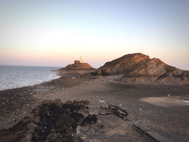 Showcase March Lighthouse Swansea Mumbles Sea Sea And Sky Seaside Rocks Island Wales Bay Sun Exploring Cycling Twilight Sky Twilight