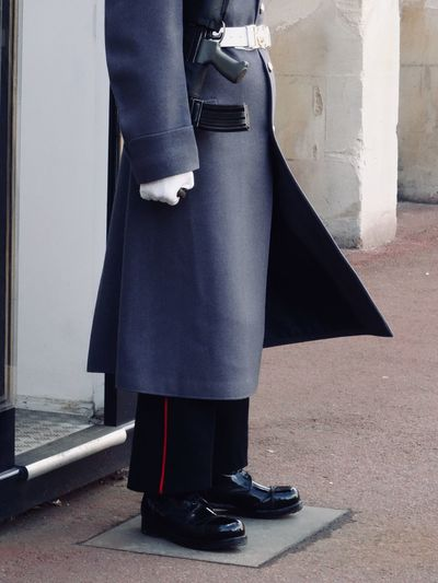 Men Real People Lifestyles Day Standing Well-dressed Built Structure One Person Uniform London Windsor Windsor Castle England Guard Guarding Castle Discipline Beefeater Outdoors Low Section Architecture Adult People Postcode Postcards