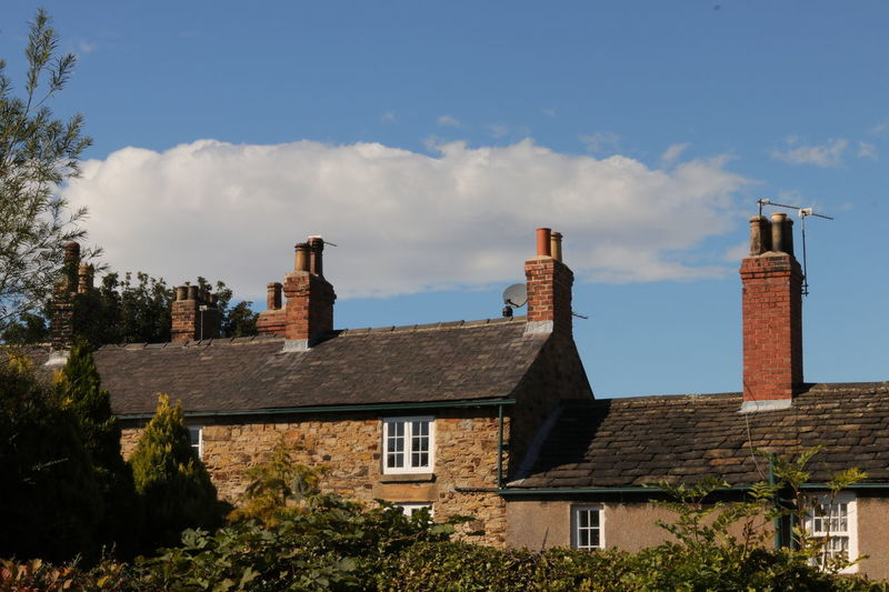 South Yorkshire Architecture Building Building Exterior Built Structure Chimney City Cloud - Sky Day House Nature No People Outdoors Plant Residential District Roof Roof Tile Sky Smoke Stack Sunlight Tower Tree Wentworth