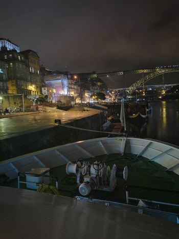Ribeira Do Porto Rio Douro Douro River Portugal Douro  Douroriver Ponte D. Luis I Ponte Luis I Night Business Finance And Industry City Outdoors Illuminated Sky Cityscape Water No People Architecture