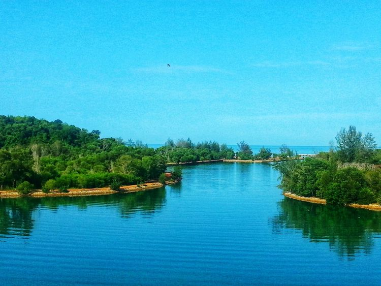 Tree Water Blue Outdoors Reflection Scenics Day Sky River No People Nature Beauty In Nature