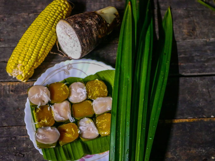 Thai desserts Food Food And Drink Freshness Wellbeing Vegetable Healthy Eating Still Life Variation Corn No People Close-up Choice High Angle View Table Indoors  Onion Ready-to-eat Sweetcorn Japanese Food Green Color