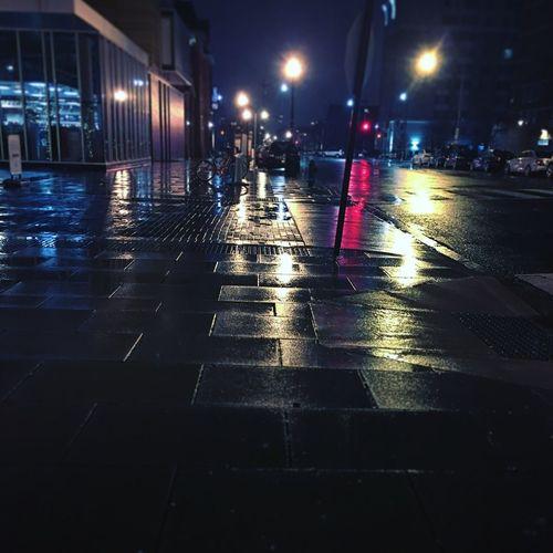 3am wet street.