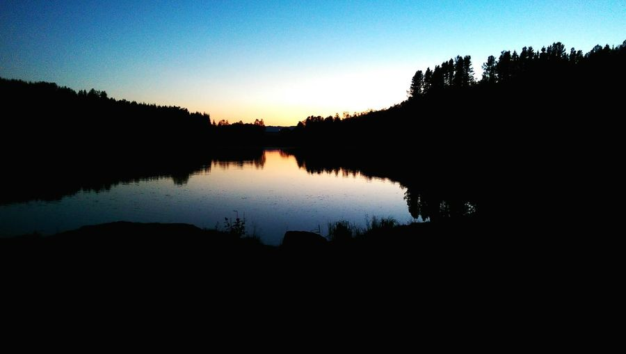Northern Norway Norway Tree Water Lake Astronomy Clear Sky Reflection Sunset Sky Landscape EyeEmNewHere