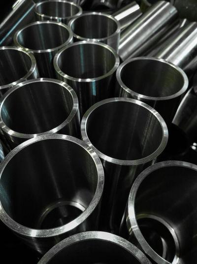 Full frame shot of metallic pipes