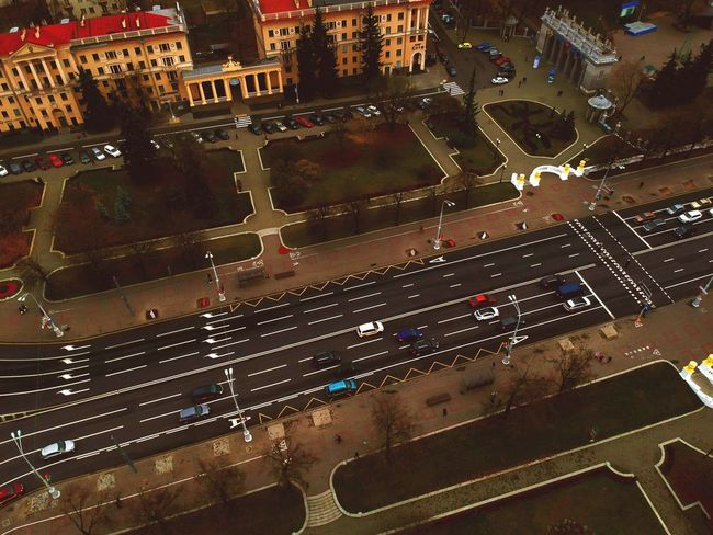Architecture Night Illuminated Building Exterior City Built Structure High Angle View Car Aerial View Motor Vehicle Land Vehicle Nature Mode Of Transportation Outdoors Water Street Transportation No People Road Cityscape