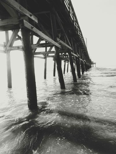 SC Pier Photography Beautiful Beach Pier Blackandwhite Black & White