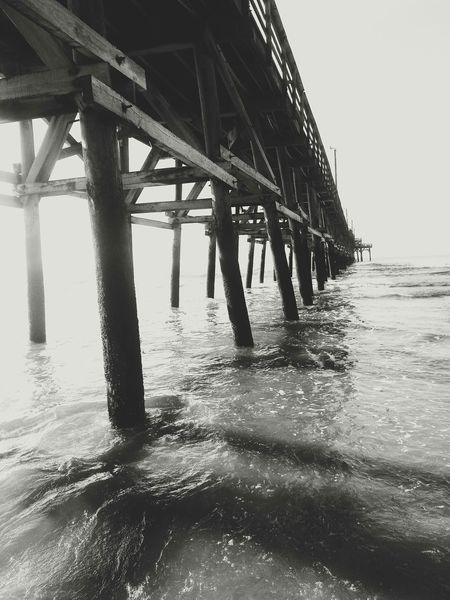 SC Pier Photography Beautiful Beach Pier Blackandwhite Black & White