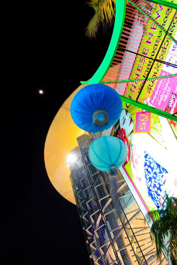 Chinese lantern front of shopping mall - Bangkok Low Angle View No People Multi Colored Illuminated Lighting Equipment Lantern Night Close-up Outdoors Hanging Nature Creativity Decoration Art And Craft Sky Umbrella Paper Lantern Yellow Electricity  Electric Lamp