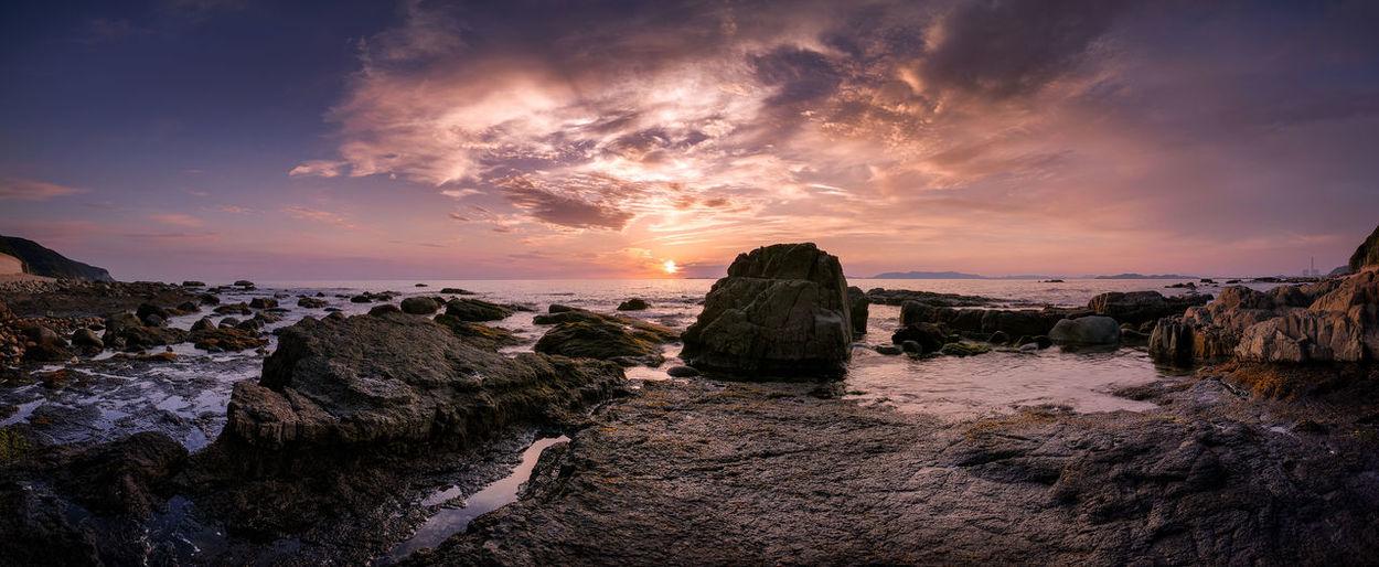 amakusa japan Clouds And Sky Coastline Japan Photography Rocks Sea Seascape Sun Sunset Waves