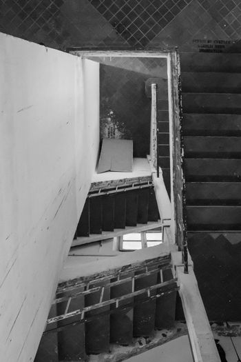 Architecture Black & White Blackandwhite Photography Building Built Structure Day Deterioration EyeEm Gallery No People Old Run-down Staircase Stairs The Way Forward Fine Art Photography EyeEm Awards 2016 The Creative - 2018 EyeEm Awards