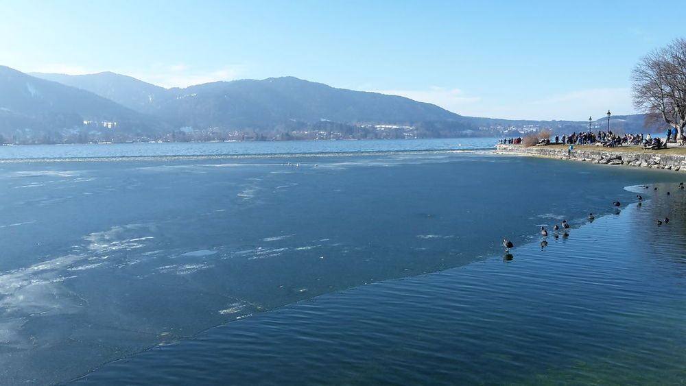 Lake And Mountain Lakeside Walk Tegernsee Beauty In Nature Lakeside Lakeside Beauty Lakesideview Melting Ice Melting Ice On Water Mountain Mountain Range Reflection Of Sky Sky Sky On Water Spring Springtime Water Waterfront
