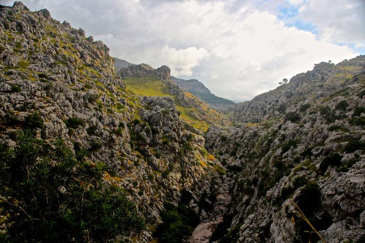 Beauty In Nature Canyon Day Geology Landscape Mallorca Mountain Mountains Nature Outdoors Port De Sa Calobra Scenics Sky SPAIN Torrent De Pareis Tranquility Valley