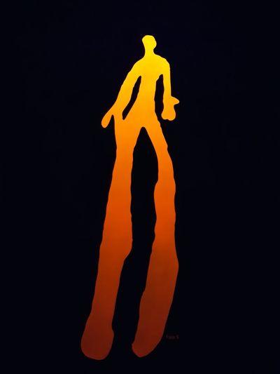 museu de Foz Côa Gravuras UV Light Black Orange