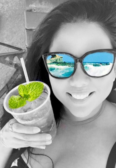Colour Of Life Mojito! Beach Self Portrait EyeEm Best Shots EyeEm Best Edits Enjoying Life Taking Photos Hello World Ocean View From My Point Of View My Smartphone Life Original Experiences