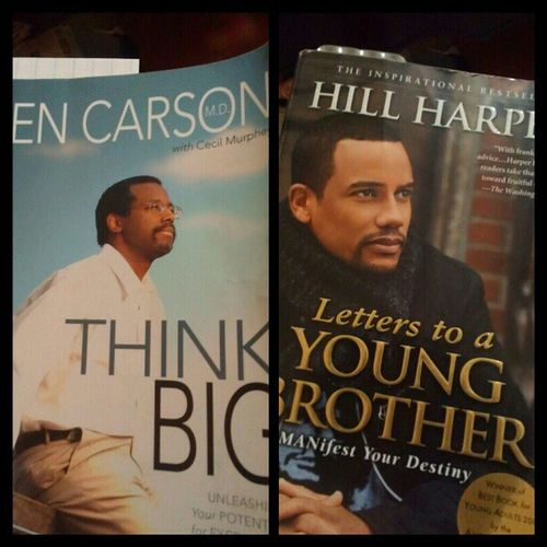 Two books I think all young males should read while growing up. HillHarper BenCarson Youngbrother Thinkbig