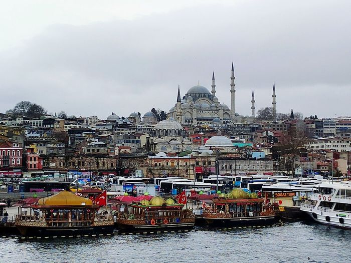 Constantinople. City Travel Destinations Cityscape Travel Cloud - Sky No People Outdoors Architecture Sky Water Day Travel View City Cityscape Iconic Architecture Multi Colored Istanbul Turkey Mosque