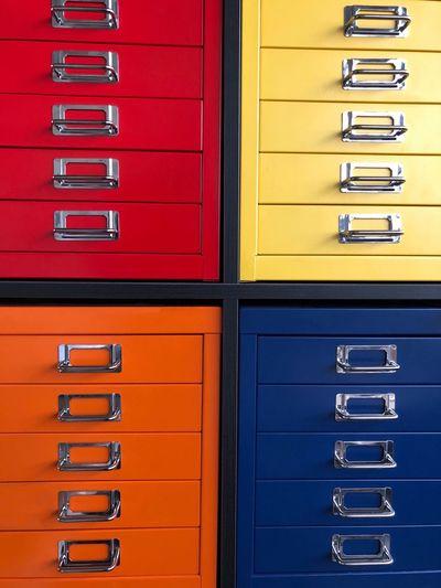 Full Frame Shot Of Multi Colored Lockers