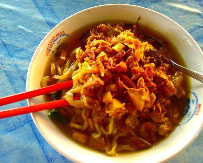 mie ayam (Indonesia chicken noodles) Indonesia Photography  INDONESIA Food Noodles Noodle Chopsticks Chinese Food Soup Bowl Soup Bowl Table Noodles Noodle Soup Ramen Noodles Close-up