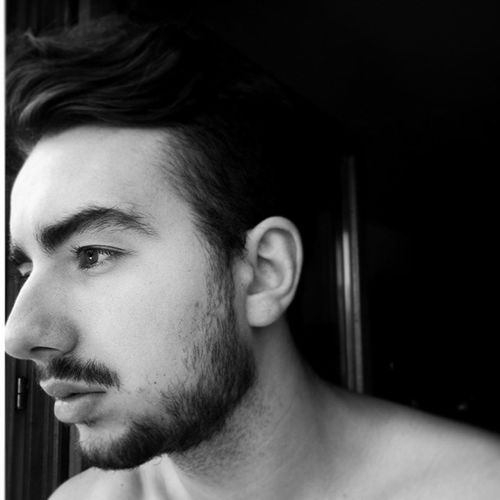 Black And White Version whiskers beard my hairstyle eyebrow