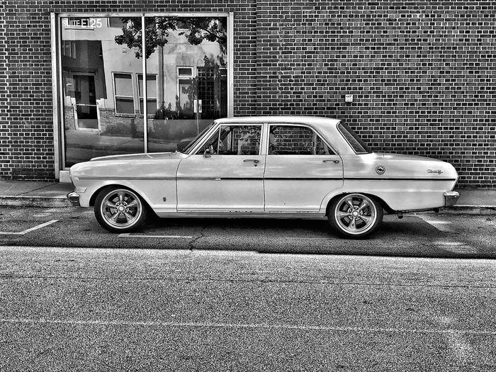 Car Retro Styled Blackandwhite