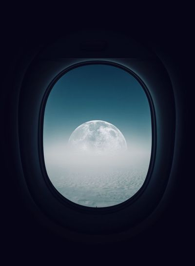 Moon fine art Fine Art Photography Minimalism Minimal Fine Art Night Shadows & Lights EyeEm Gallery EyeEm Selects EyeEm Sky Mode Of Transportation Vehicle Interior Transportation No People Airplane My Best Photo Window Circle Geometric Shape Shape Air Vehicle Transparent Indoors  Glass - Material Travel