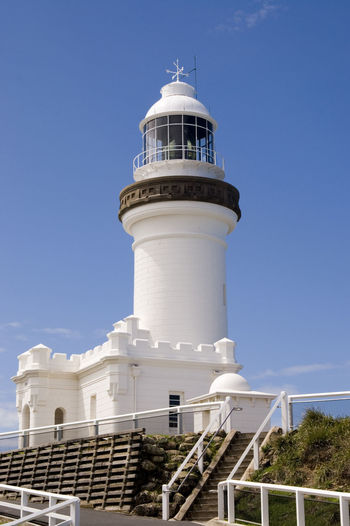 Byron Bay Lighthouse in Australia Australia Byron Bay Byron Bay Lighthouse Travel Architecture Blue Building Exterior Built Structure Clear Sky Coastal Downunder Famous Place Guidance Landmark Lighthouse Nautical No People Sky Tower Travel Destinations