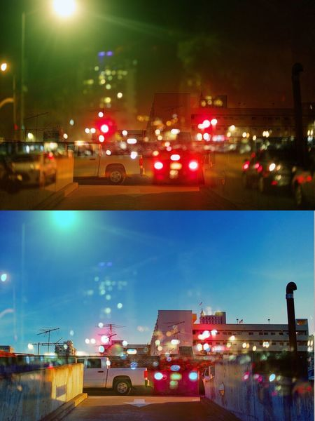 Double exposure Day And Night San Francisco City Life Double Exposure Land Vehicle Mode Of Transport Road No People