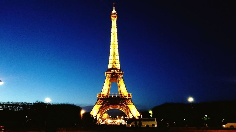 Effiel Tower Paris Travel Destinations Illuminated No People Pretty Lights France Sunset Clear Sky Evening Winter Night Adapted To The City