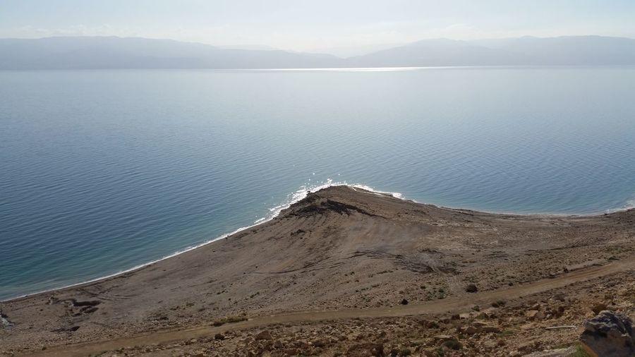 Scenic view of dead sea