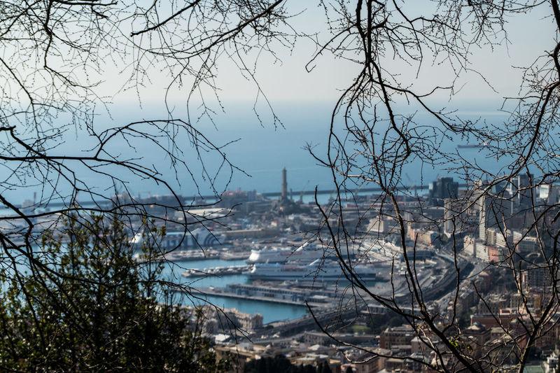 Genova, punto panoramico dal Monte Righi. Nautical Vessel Sea Sky Nature Lanterna Di Genova No People Cityscape Beauty In Nature SonyAlpha58