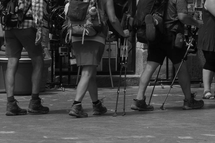 Camino De Santiago Andar Caminantes Low Section Men Standing Human Leg Arts Culture And Entertainment Women