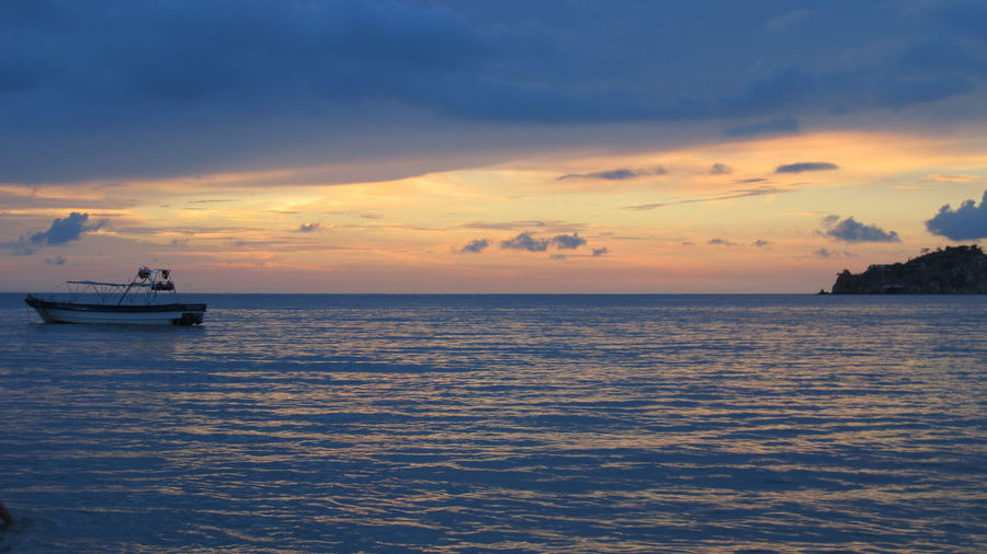 Peace and Sea EyeEmNewHere Sky Sea Nautical Vessel Water Sunset Cloud - Sky Transportation Mode Of Transportation Scenics - Nature Horizon Horizon Over Water Beauty In Nature Tranquil Scene Tranquility Nature Travel Waterfront No People Ship Outdoors Cruise Ship Passenger Craft Yacht