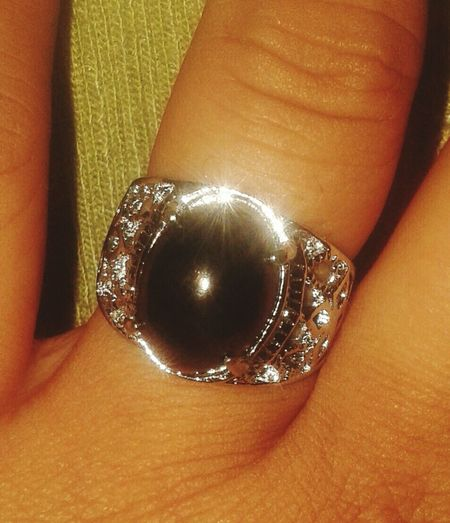 my lovely black Black Jack Stone Silver Ring Aceh