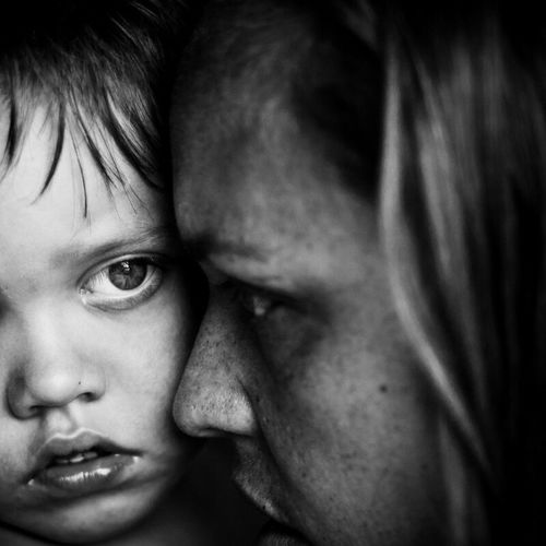 Boy with mother. Two People Human Face Close-up Blackandwhite Black And White Monochrome Monochrome Photography Ericimbs