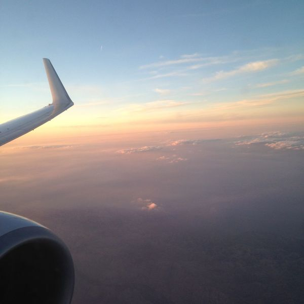 Aerial View Airplane Amazing Atmosphere Atmospheric Mood Cloudscape Orange Color Sky Sun Sunset