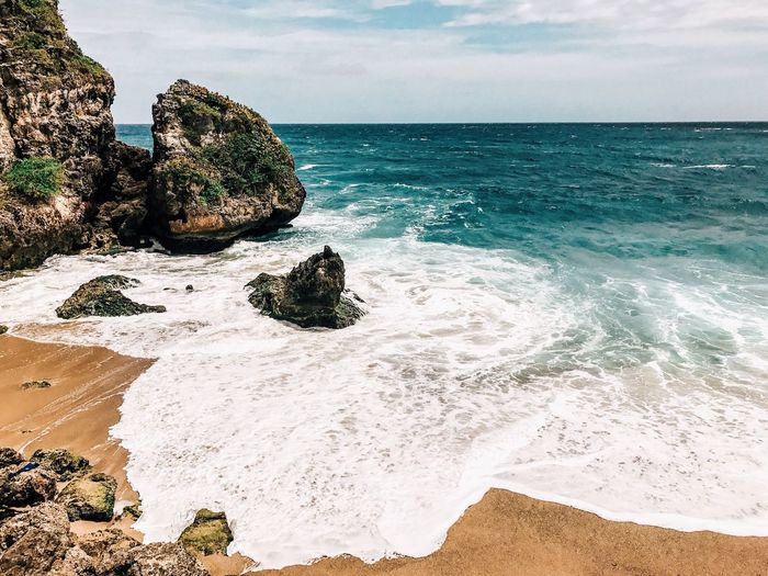 Puerto Rico Outdoors Horizon Over Water Landscape Physical Geography Travel Destinations Sky Tranquility Sea Rock - Object Beach Water Nature Sand Beauty In Nature Scenics Tranquil Scene Cloud - Sky No People Day Wave