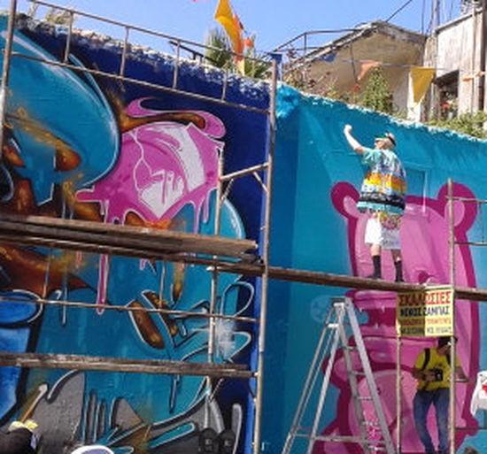 Graffiti Artist On Scaffolding Graffiti Cy Graffiti Street Festi Graffiti Wall Cy Old Man Funny Outfit Old Man Graff Old Man On Scaffol Old Man Selfie Selfie On Scaff Selfie With Graffiti