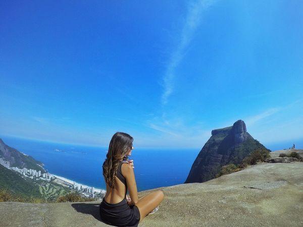 Girl Rio Riodejaneiro Tourism Pedra Bonita Relaxing Meditation Nature Hiking February Showcase Carnival