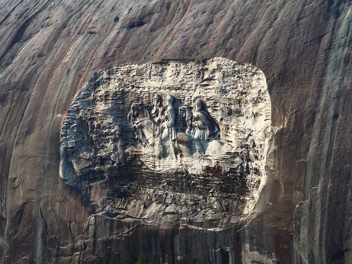 Stone Mountain Rock - Object Day Outdoors Mountain Close-up Rock Face Aviation Photography Aerialview Tall - High ATL Travel Destinations Scenics Aviationphotography Aerial View Atlanta, Georgia Majestic Backgrounds Controversial Controversy Carving